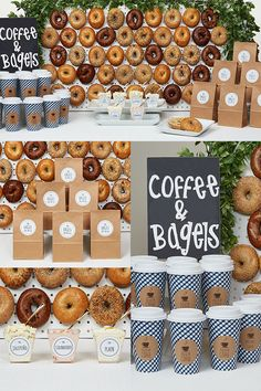 employee appreciation ideas National Bagel Day is almost here! This Bagel Breakfast Party idea may have been inspired by National Bagel Day, but this quick setup works in a Bagel Bar, Breakfast Bagel, Breakfast Buffet, Best Breakfast, Breakfast Ideas, Breakfast Parties, Breakfast Quesadilla, School Breakfast, Sunday Breakfast