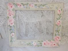 SHABBY DECORATIVE ROSE FRAME ...available on ebay!  artist d.sommers