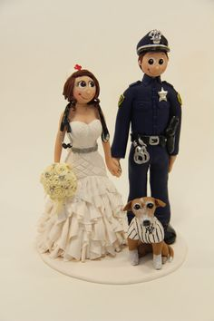 Groom Police Officer and Bride Nurse by SweetEleganceToppers, $25.00