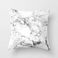 Throw Pillows featuring Marble by Mathias Thorgaard