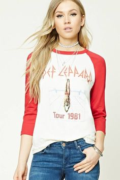 956cbd69 FOREVER 21 Def Leppard Graphic Tour Tee Def Leppard, Band Tees, Graphic Tees ,