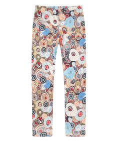 Look at this Richie House Brown Circle Leggings - Toddler & Girls on #zulily today!