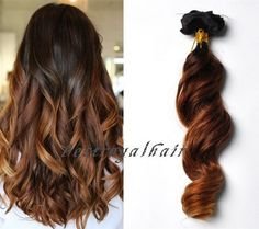 This Ombre Indian Remy hair extension is characterized by Two-Colors, which is a nice mix of black and brown in the form of ombre arrangement. And