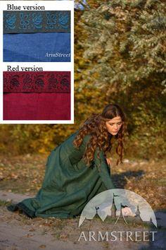 Medieval Renaissance Flax Linen Dress Autumn Princess by armstreet, $179.99