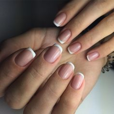 Nails french toes manicures ideas for 2019 Fabulous Nails, Gorgeous Nails, Pretty Nails, Fun Nails, French Tip Nails, French Toes, Short French Nails, French Nail Designs, Luxury Nails
