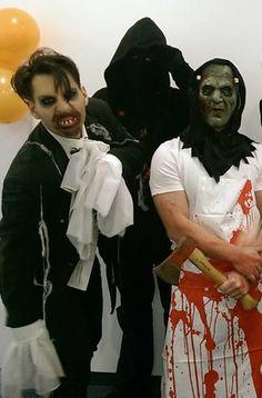 Florian, Tobias und Alex. Den sieht man nur nicht... Florian, Tobias, Che Guevara, Halloween, Spooky Halloween