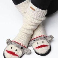 Delux Cute Sock Monkey Slipper Socks (M/L)