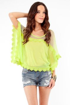 Lime Boho Box Top
