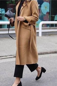 Camel coat / street style fashion / fashion week , Camel Coat / street style fashion / fashion week , Fall Street Style Source by fromluxewithlove Mode Outfits, Winter Outfits, Fashion Outfits, Womens Fashion, Fashion Trends, Fashion Ideas, Summer Outfits, Summer Dresses, Minimalist Outfit
