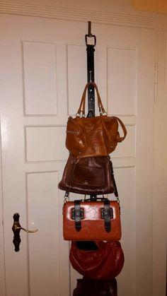 Taschen Aufhängen Gut Und Günstig. Alter Gürtel, Türhaken Und Küchenhaken  Z.B. Von Ikea