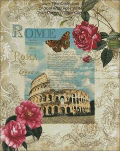 Cross Stitch Chart Eternal Rome DOWNLOAD by TiltonCrafts on Etsy, $15.00
