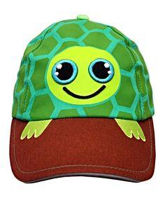 "Adorable Kid Friendly Boys Turtle Baseball Cap Safari SunHat Birthday Gift 19.5"" #BoogityBoogityBoo"