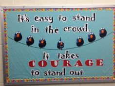Gallery For > High School Counselor Bulletin Board Ideas Bird Bulletin Boards, Bullying Bulletin Boards, Counselor Bulletin Boards, Kindness Bulletin Board, Bulletin Board Display, Classroom Bulletin Boards, Classroom Decor, Preschool Bulletin, Classroom Quotes