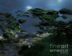 Title  Green Green Rocky Road   Artist  RC deWinter   Medium  Painting - Digital Art