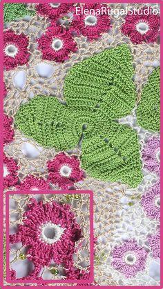 Irish Crochet, Crochet Motif, Crochet Lace, Crochet Patterns, Irish Lace, Simple Designs, Needlework, Crochet Earrings, Blanket