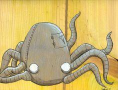 """Octobot Robot Print from Original Art by Maxx 8"""" x 10"""""""