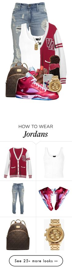 """""""Hopefully We Could Go To Heaven, Cause I'm Prayin'"""" by aniahrhichkhidd on Polyvore featuring RVCA, Mixit, NIKE, Michael Kors, Nixon and Queen Bee"""