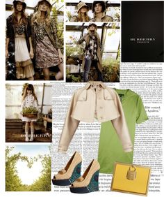 """""""Burberry SS13 Reveal"""" by fashiongirldreams ❤ liked on Polyvore"""