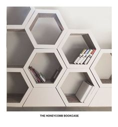 Simple&Beautiful&Modern Hexagons honey bookcase