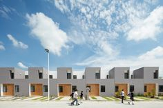 Image 1 of 27 from gallery of San Ignacio Houses / Arquitectura. Photograph by Lorena Darquea Habitat Groupé, Social Housing Architecture, Casa Pop, Architectural Photographers, Built Environment, Types Of Houses, Toyo Ito, Architect Design, Apartment Design