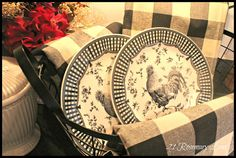 21 Rosemary Lane: A Few New Items for My Kitchen ~ Black and White Buffalo Check