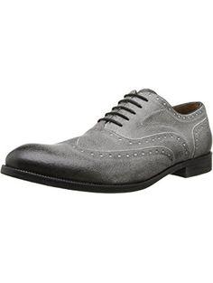 John Varvatos Men's Sid Brogue Wing Oxford, Smoke, 7 M US ❤ John Varvatos Footwear