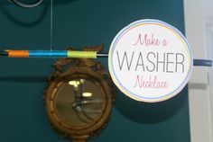 how to make a washer necklace