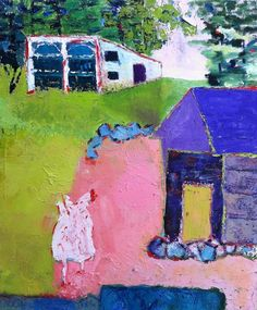 Landscapes in Private Collections::Fauvist Modern Milton Avery Primitive Naive Art Abstracted Landscapes Stilllifes : JILL FINSEN PAINTINGS