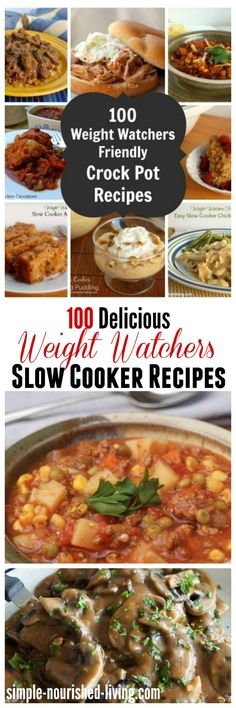 100 Delicious Weight Watchers Slow Cooker Recipes with Points Plus for Easy Effortless Weight Loss! http://simple-nourished-living.com/2014/01/100-days-crock-pot-recipes-weight-watchers-style-giveaway/