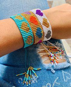 Diy Jewelry, Beaded Jewelry, Jewelery, Bead Loom Bracelets, Loom Beading, Jewellery Display, Bead Weaving, Hearts, Crafty