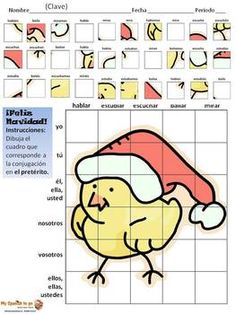 CHRISTMAS: Draw the Correct Conjugation Present Tense --ar