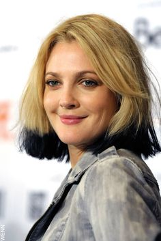 Drew Barrymore With A Black Ombre Bob