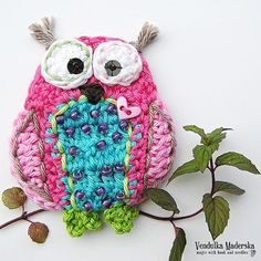 Crochet owl pattern  applique  DIY by VendulkaM on Etsy, $4.50