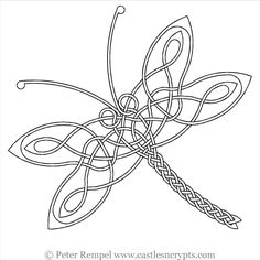 free printable celtic line art dragonfly Celtic Symbols, Celtic Art, Celtic Knots, Celtic Patterns, Celtic Designs, Pyrography Patterns, Pyrography Designs, Butterfly Coloring Page, Zentangle