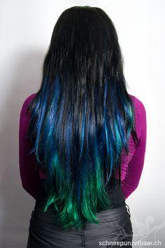 Bunte Farben - SchneePunzel - professionelle Haarverlängerungen und Dreadlocks Punky Hair, Gothic Makeup, Ombre Hair, Elegant, Blue Hair, Hair Extensions, Hair Beauty, Dreadlocks, Colorful
