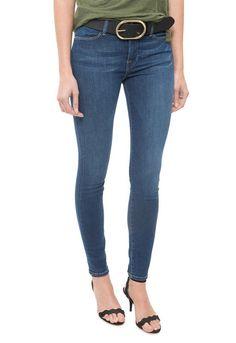 FRAME DENIM Le High Skinny Mid Rise Stretch Jeans Pants Gretna Blue 26 $220 #FrameDenim #SlimSkinny