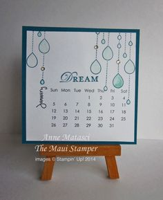Maui Stamper 2014 DIY January Calendar by Hianna - Cards and Paper Crafts at Splitcoaststampers February Calendar, Diy Calendar, Calendar Pages, Desk Calendars, Diy Easel, Perpetual Birthday Calendar, Stampin Up Cards, Maui, Paper Crafts