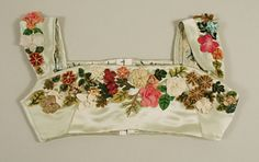 Bodice, dated between 1804–14, probably British.  Constructed of silk and cotton.