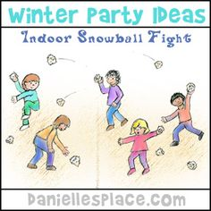 Indoor Snowball Fight Winter Game Ideas from www.daniellesplace.com