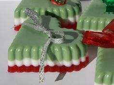 Christmas Soap Hearts