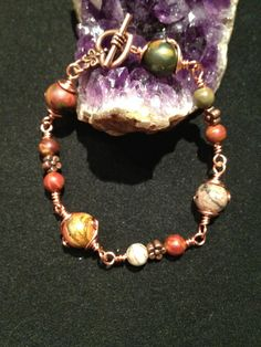 Wire Wrapped Picasso Jasper Bracelet. Starting at $8 on Tophatter.com!