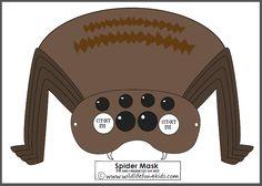 Free Spider Mask + Spider Activities