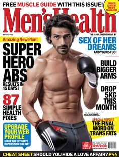 Arjun Rampal covers the Muscle Guide issue of Men's Health Magazine India : May 2012