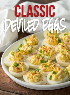 This Classic Deviled Eggs Recipe is my go-to recipe for delicious deviled eggs! So easy and always a favorite! This Classic Deviled Eggs Recipe is my go-to recipe for delicious deviled eggs! So easy and always a favorite! Fried Deviled Eggs, Sriracha Deviled Eggs, Avocado Deviled Eggs, Devilled Eggs Recipe Best, Deviled Eggs Recipe, Easy Deviled Eggs, Scrambled Eggs, Perfect Deviled Eggs, Classic Deviled Eggs