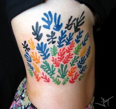 Or these Matisse flowers: Face Tattoos, Funny Tattoos, Tatoos, Matisse Tattoo, F Tattoo, Art Inspired Tattoos, Skin Paint, Special Tattoos, Plant Tattoo