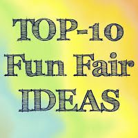 My TOP-10 favourite ideas found on Pinterest, for a fun school fair.
