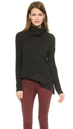 Madewell Solid Petra Rib Turtleneck Sweater