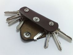 Extremely convenient keychain key holder from dark brown by TIZART, $15.00
