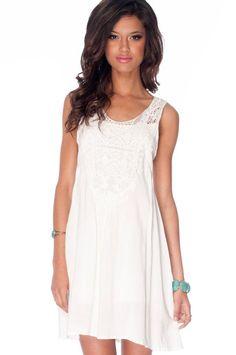 white cotton dress $58