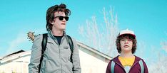 Name a more iconic duo; I'll wait.     #strangerthings #steveharrington #dustinhenderson